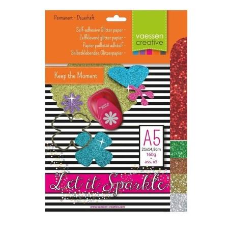 Pack papel adhesivo glitter A5 nº 4