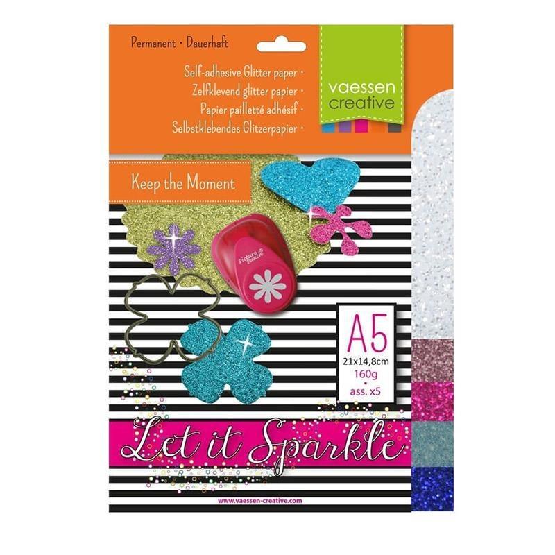 Pack papel adhesivo glitter A5 nº 3