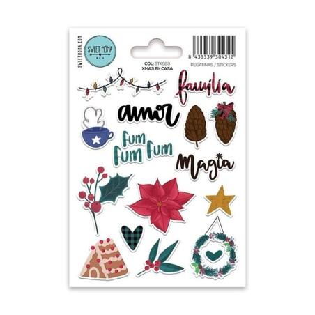 Stickers Xmas en casa- Sweet Moma