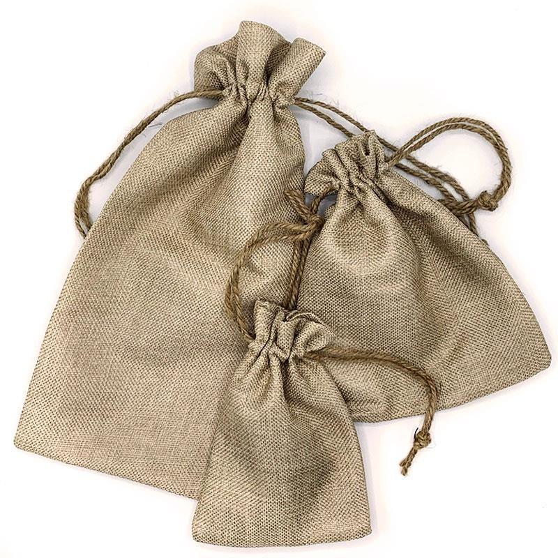 Bolsa tela arpillera 12x17cm