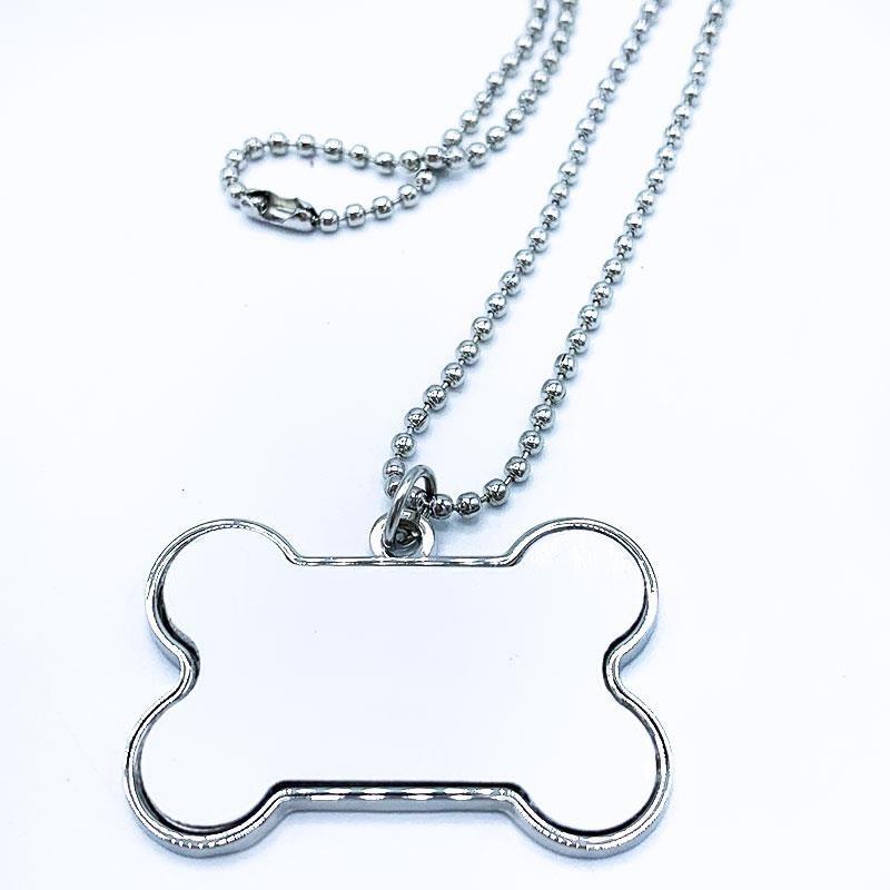 Chapa identificativa mascota forma de hueso