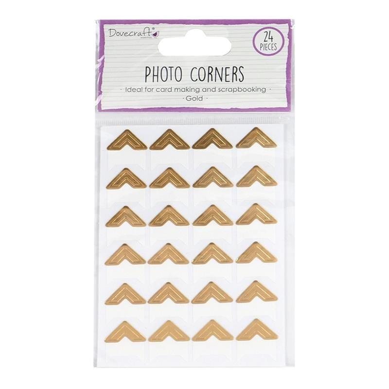 Esquinas adhesivas para fotos Gold