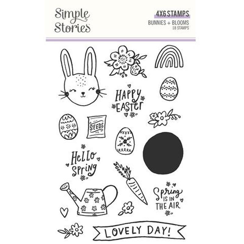 Sellos Simple Stories Bunnies + Blooms