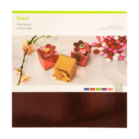 "Cricut Foil Carton kraft Sampler Jewels 12""x12"" 30"