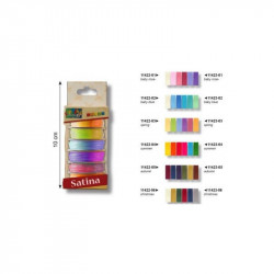 Ribbon satén 6 colores baby rose 3 mm