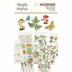 Sticker book Simple Vintage Great Scape Stories