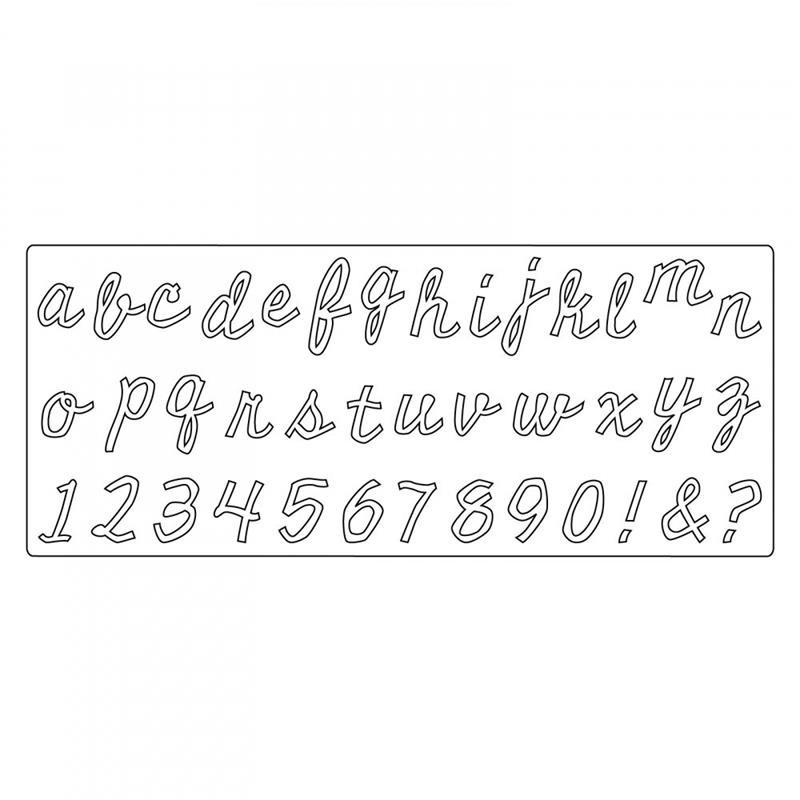 Tim Holtz Sizzix Bigz XL Alpha Die cutout script