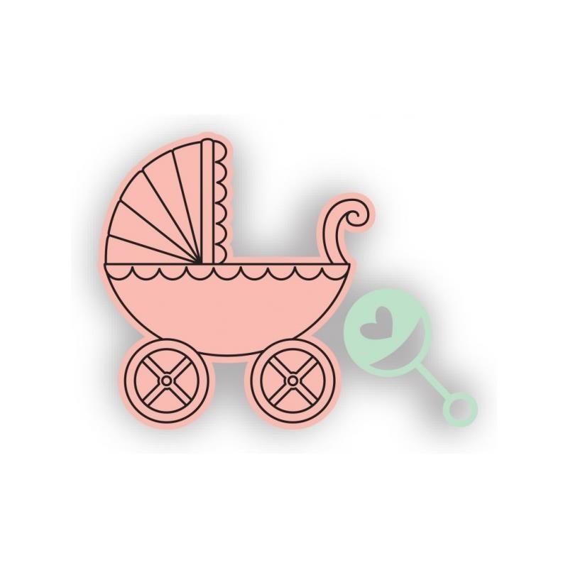Framelite con sello Coche bebé