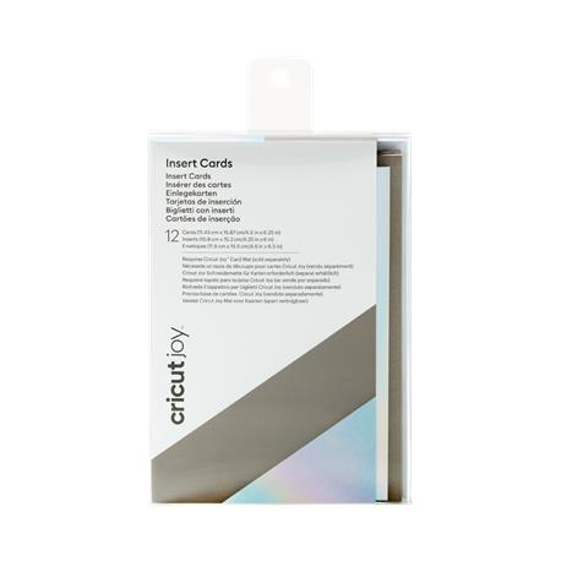 Cricut Joy Insert Cards Gry Silver Holo A6