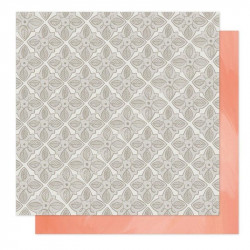 Papel doble cara 12 x 12 Twilight: Garden Tiles