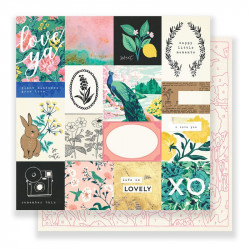 "Papel doble cara 12 "" Flourish - Memorable"