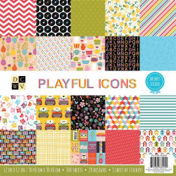 Paper pad Playful icons DCDW 12""