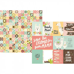 "Papel doble cara 12"" Mama Llama - Elements"