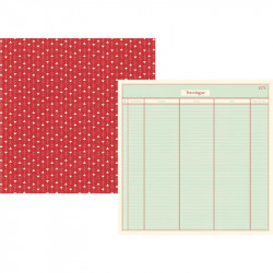 "Papel doble cara 12"" Travel notes- Travelogue"