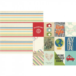 Travel notes - 3x4 Journaling cards elements