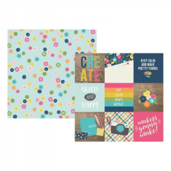 Crafty Girl - Journaling cards elements 4x4