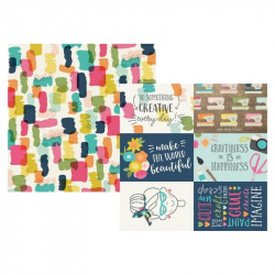 Crafty Girl - Journaling cards horizontal elements