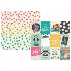 "Papel doble cara 12"" Good Vibes- Elements 3 x 4"