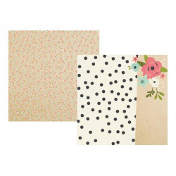 "Papel doble cara 12"" Bloom - Every day count"