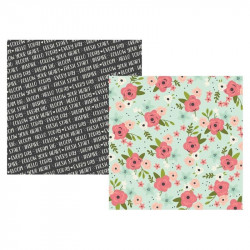 "Papel doble cara 12"" Bloom - Inspired"