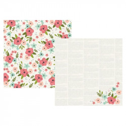 "Papel doble cara 12"" Bloom - Happy time"