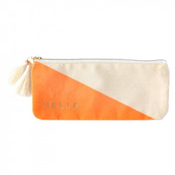 Estuche con tassel Orange Geometric