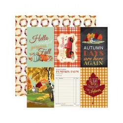 "Papel doble cara 12"" Fall Break-4x6 Journaling"