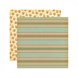"Papel doble cara 12"" Fall Break-Scarecrow Stripe"