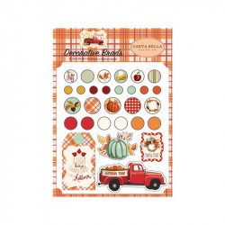 Echo Paper-Fall Break Decorative Brads