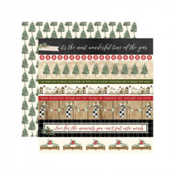 "Papel doble cara 12"" Chirstmas - Border Strips"