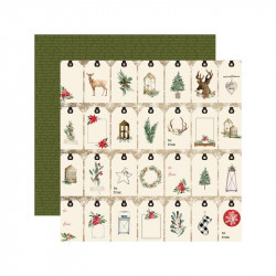 "Papel doble cara 12"" Chirstmas - Gift Tags"
