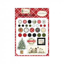 Echo Paper - Christmas - Decorative brads