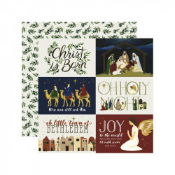 """Papel doble cara 12"""" Oh Holy night - 4*6 Journalig"""