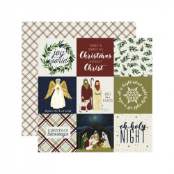 "Papel doble cara 12"" Oh Holy night - 4*4 Journalig"