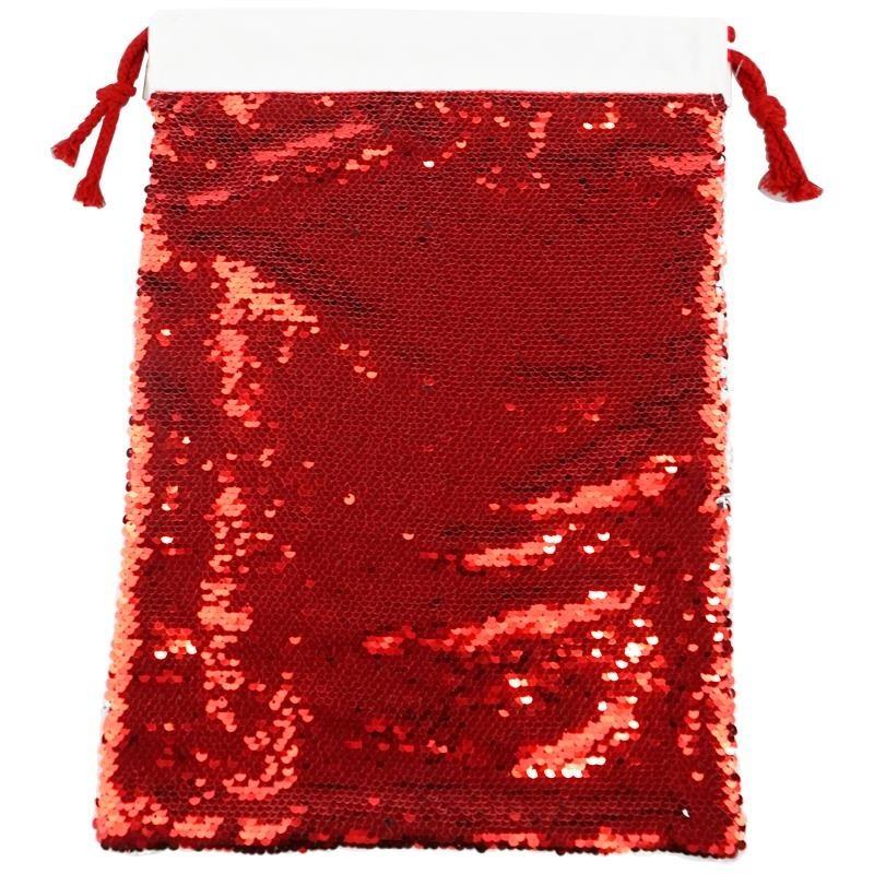 Saco navidad lentejuelas rojo sublimación