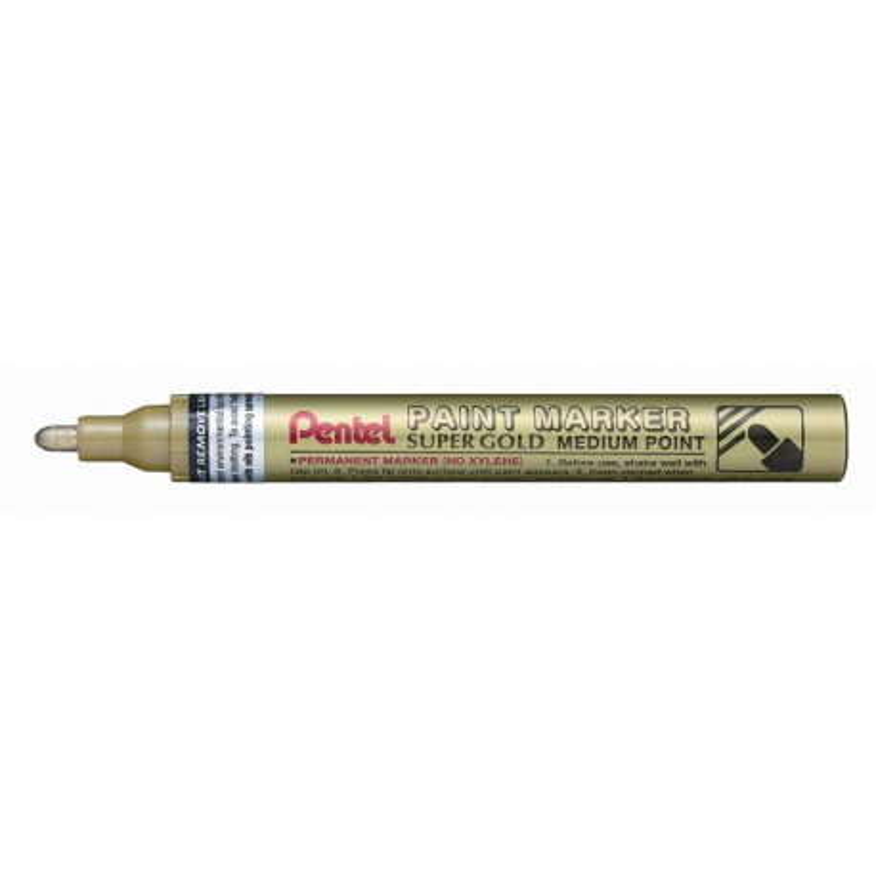 Marcador Pentel punta cónica gruesa Oro