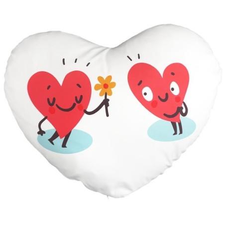 Funda de cojín con forma de corazón