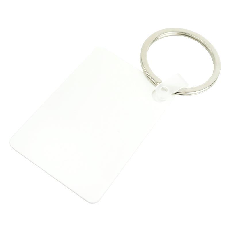 Llavero plastico rectangular sublimacion