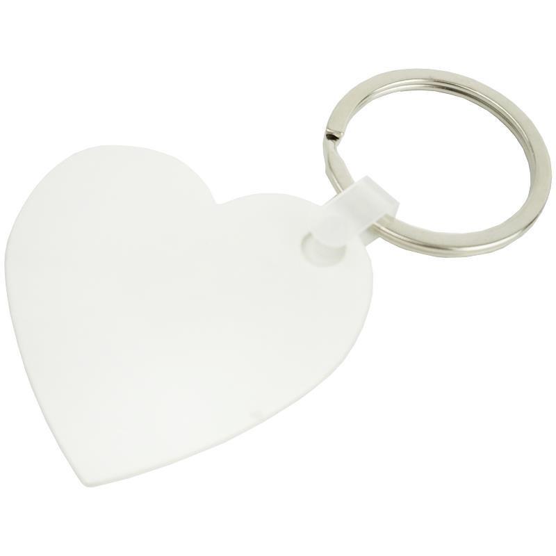 Llavero plastico corazon sublimacion