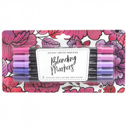 American Crafts Blending Markers 5pz Red Violet