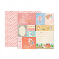 Papel doble cara Pink Paislee Little adventurer -1