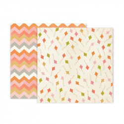 Papel doble cara Pink Paislee Little adventurer -3
