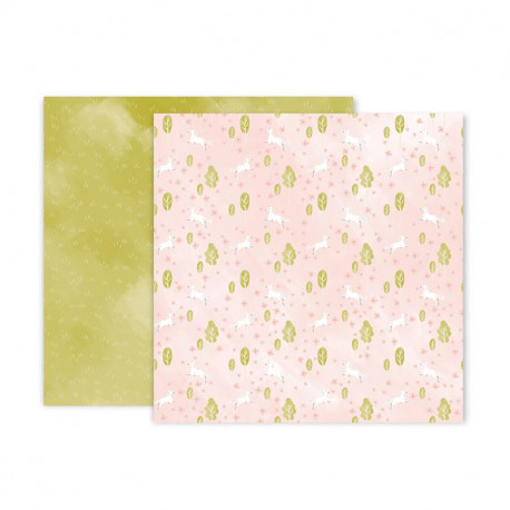Papel doble cara Pink Paislee Little adventurer -5