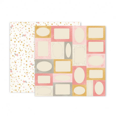 Papel doble cara Pink Paislee Little adventurer -6