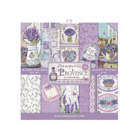 """Paper pad Stamperia Provence 12"""""""