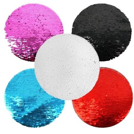 Parche de lentejuelas con forma redonda