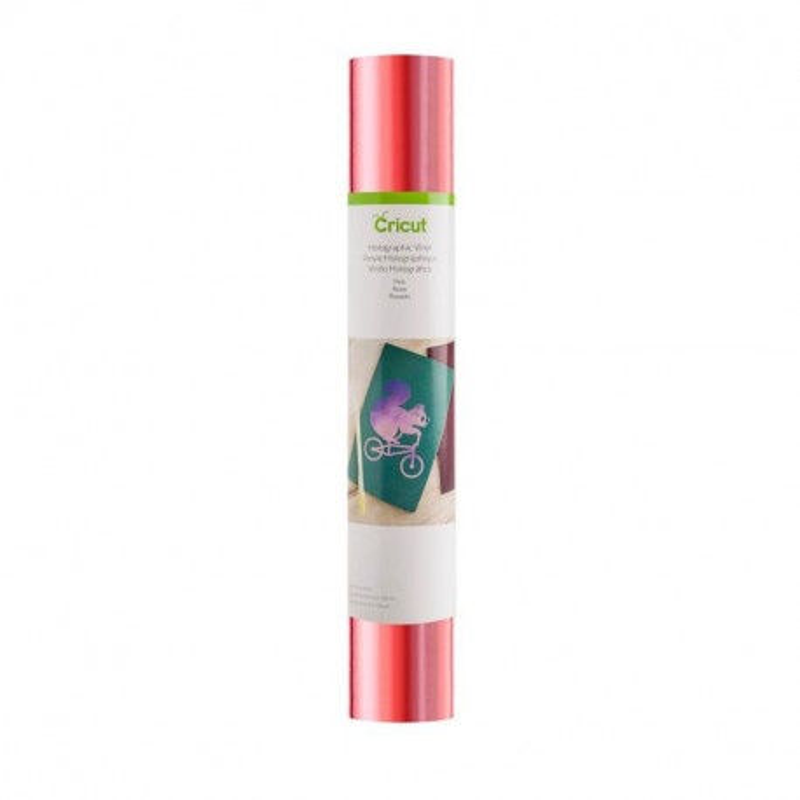 Vinilo adhesivo holográfico rosa