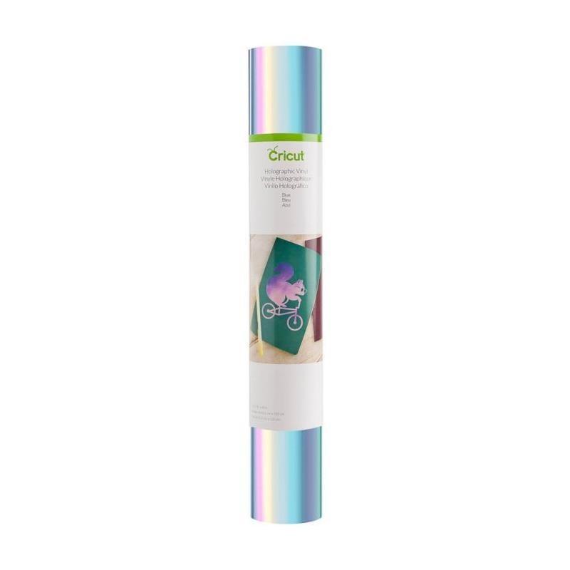 Vinilo adhesivo holográfico azul