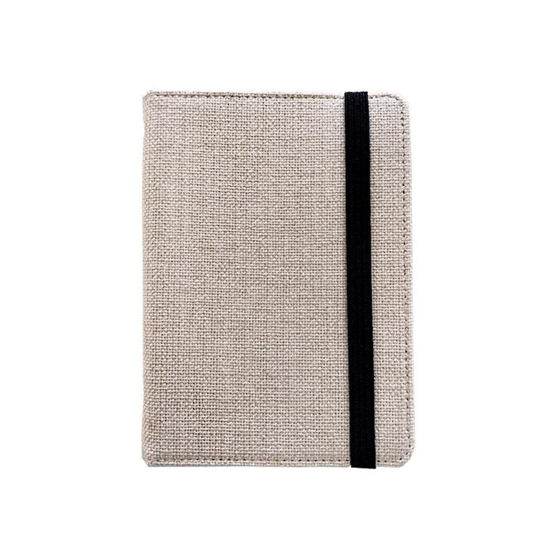 Cuaderno A6 con funda de lino para sublimacion