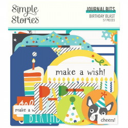 Die cuts Journal Birthday Blast Simple Stories